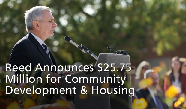 Reed Announces Over $25.75 Million for RI Community Development and Affordable Housing