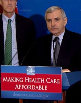 Jack Reed speaks about affordable health care