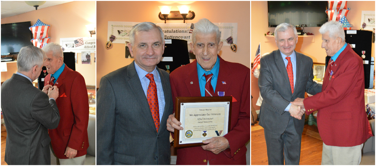 Reed Presents Bronze Star, Purple Heart to World War II Veteran