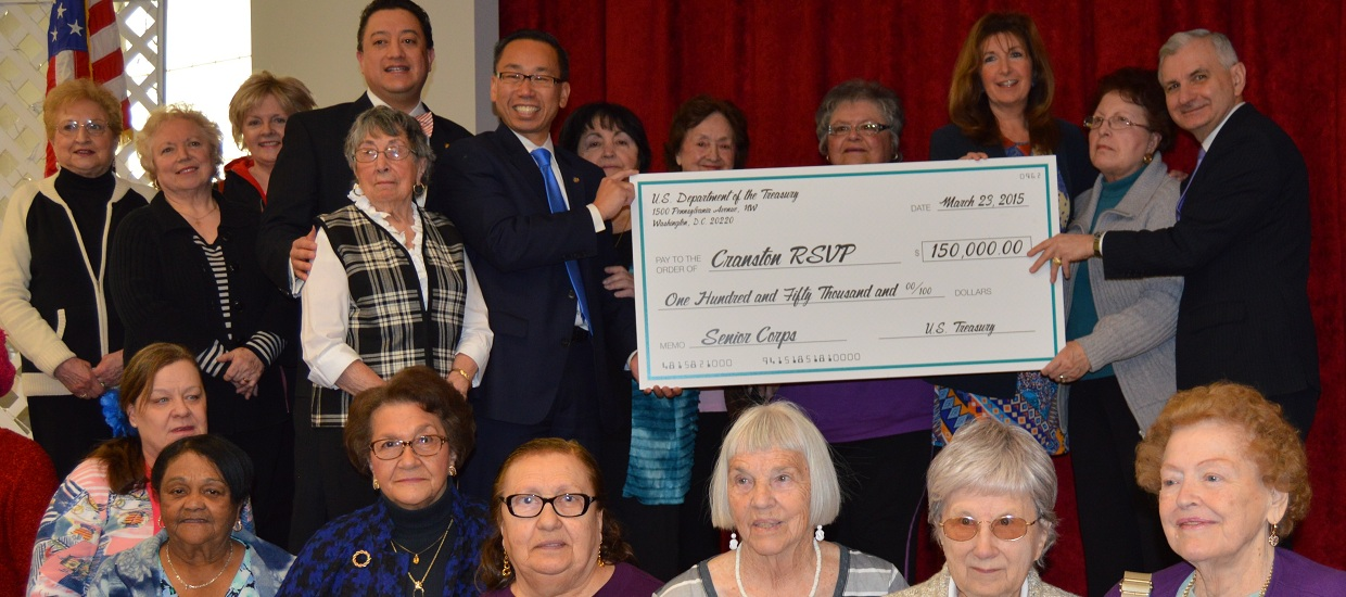Reed & Fung Announce $150K in Federal Funds to Boost Senior Volunteers in Cranston