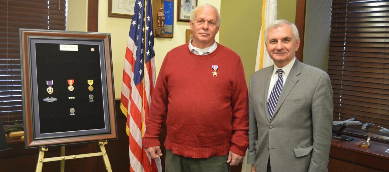 Reed Presents Silver Star & Purple Heart to Vietnam Veteran