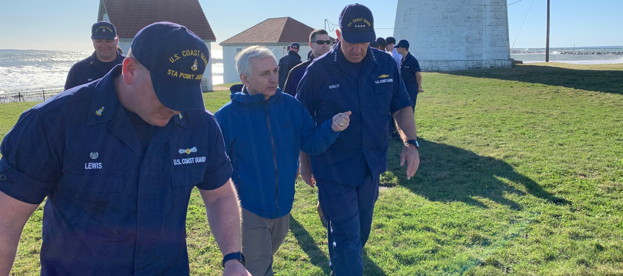 Reed Welcomes Coast Guard's Top Officer to RI