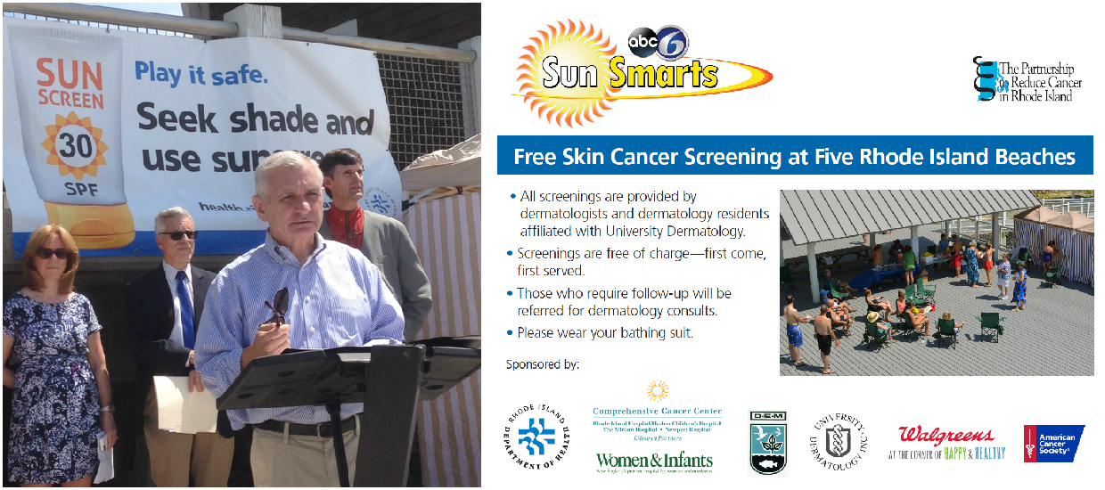 Reed, RI Department of Health, Community Partners Team Up for SunSmarts Beach Screening Campaign