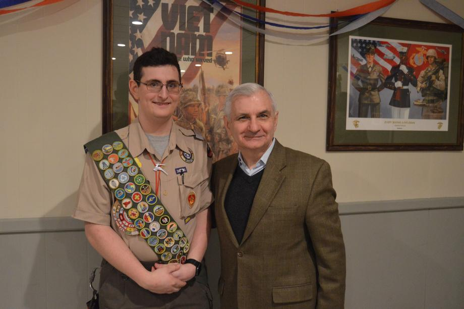 Reed Helps Coventry Eagle Scout Honor Nation's Veterans