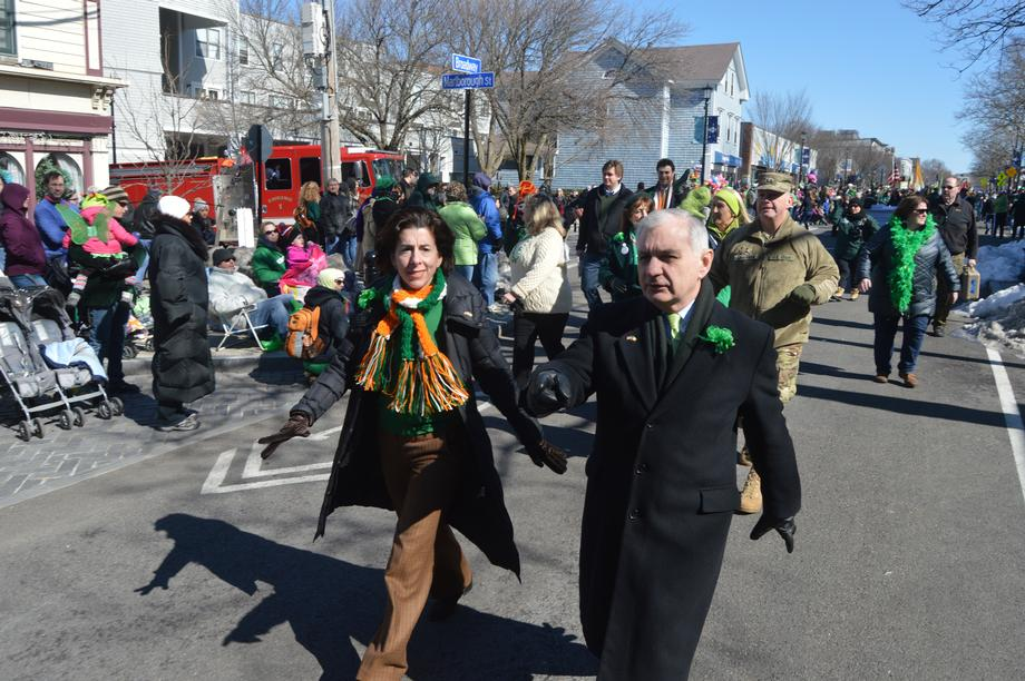 Reed Celebrates St. Patrick's Day at Newport Parade