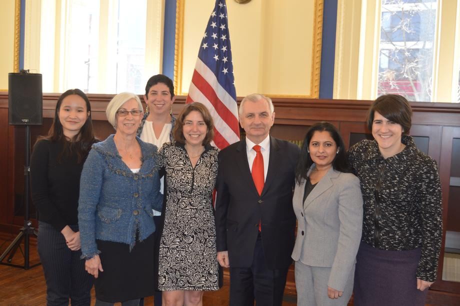 Reed Lauds Accomplishments of Women at Women's History Month Event