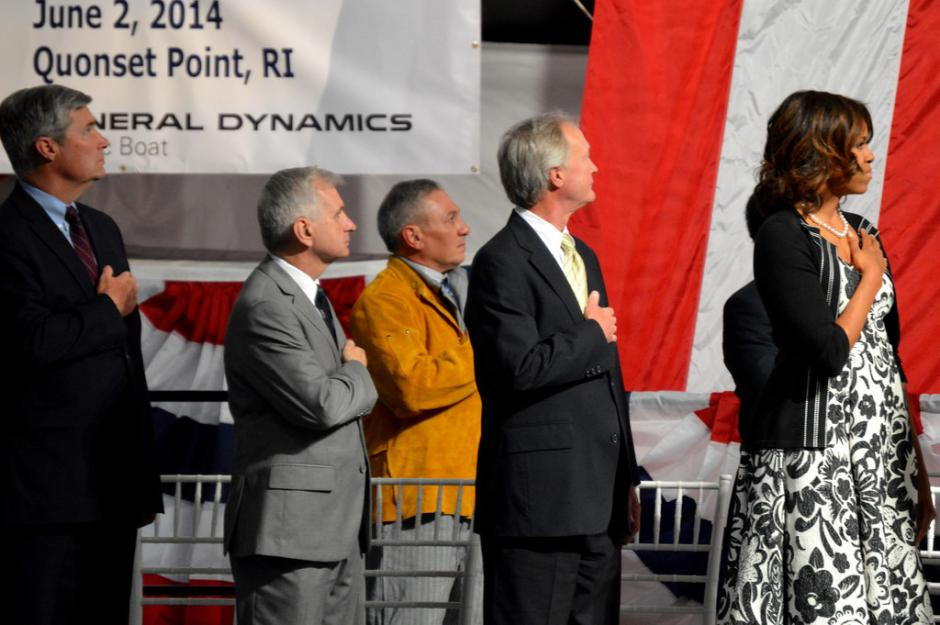 USS Illinois Keel Laying Ceremony with First Lady Michelle Obama