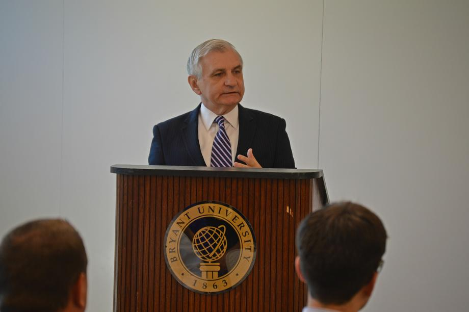 Reed Discusses Global Business Developments w/ RI Business Community