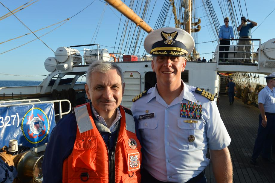 Reed Sets Sail with U.S. Coast Guard, Unveils Stamp Commemorating USCG's 225th Anniversary