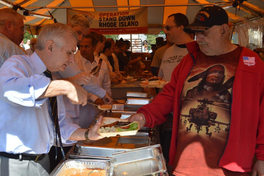 Reed Serves Lunch to Local Homeless Veterans During 24th Annual Operation Stand Down RI