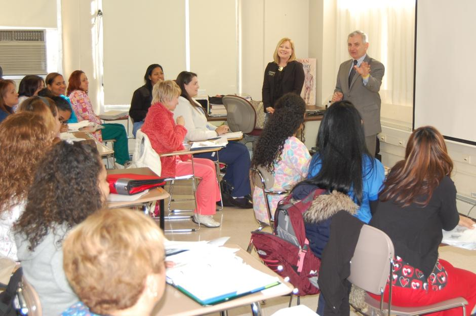 Reed, Fogarty, Carriuolo Meet Rhode Island College Outreach Program Students