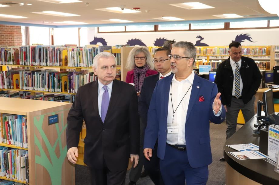 Senator Reed Tours Cranston Public Library & Meets Librarians for Informative Roundtable