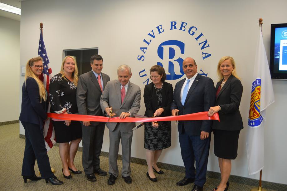 Reed Helps Cut Ribbon on New Facilities for Adult Education at Salve Regina