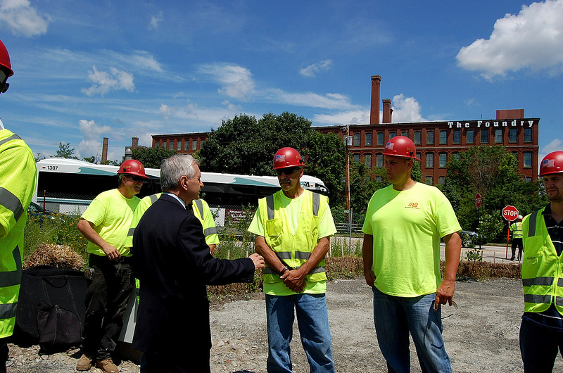 Reed Helps Break Ground at Providence Viaduct