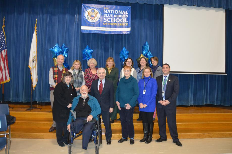 Reed Recognizes Jamestown Melrose School Students & Faculty For Earning National Blue Ribbon School Honor