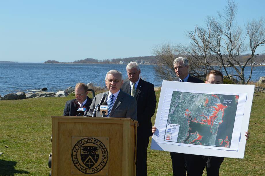 Reed Discusses Coastal Infrastructure at Conimicut Point