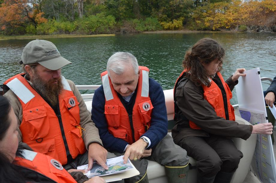 Reed Tours Restoration Efforts at Narrow River Estuary