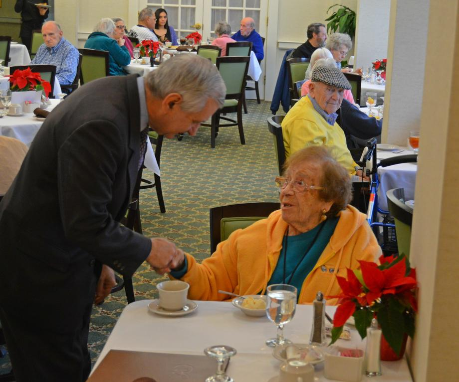 Reed Discusses Presidential Election at Providence Assisted Living Facility