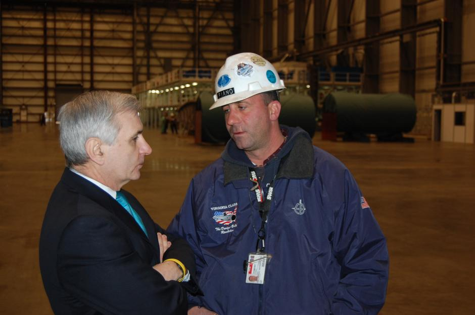 Reed Visits Submarine Manufacturing Facility at Quonset Point