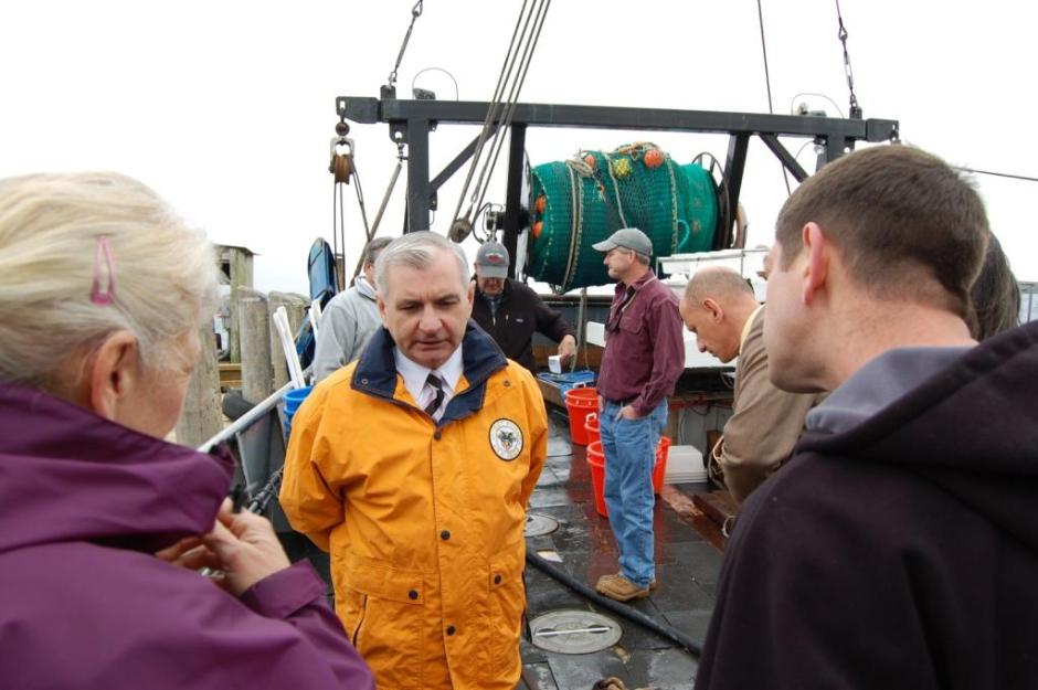Reed Joins Fishermen, Scientists to Support Collaborative Fisheries Research