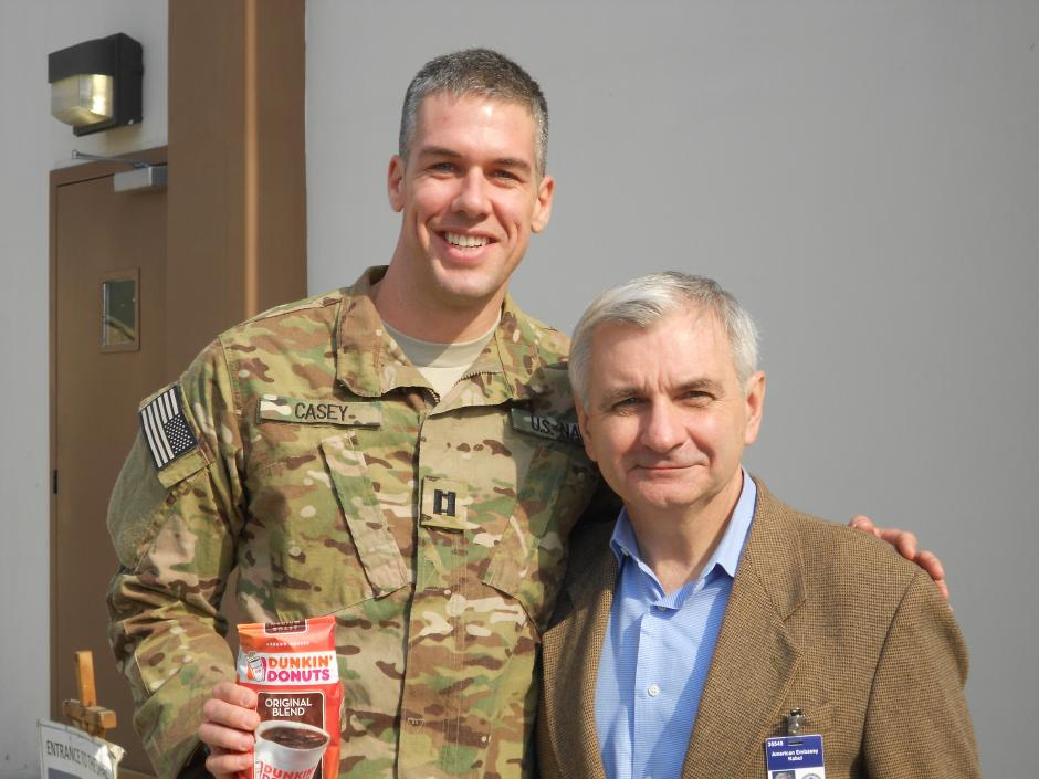 Reed Visits Troops in Afghanistan