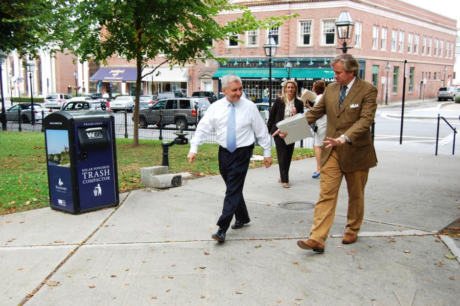 Reed Tours Broadway Corridor Revitalization in Newport