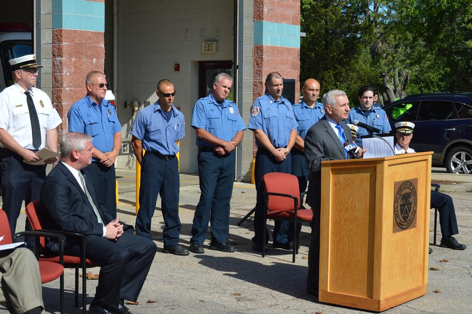 Reed, Warwick Fire Department Celebrate $1 Million Federal Grant