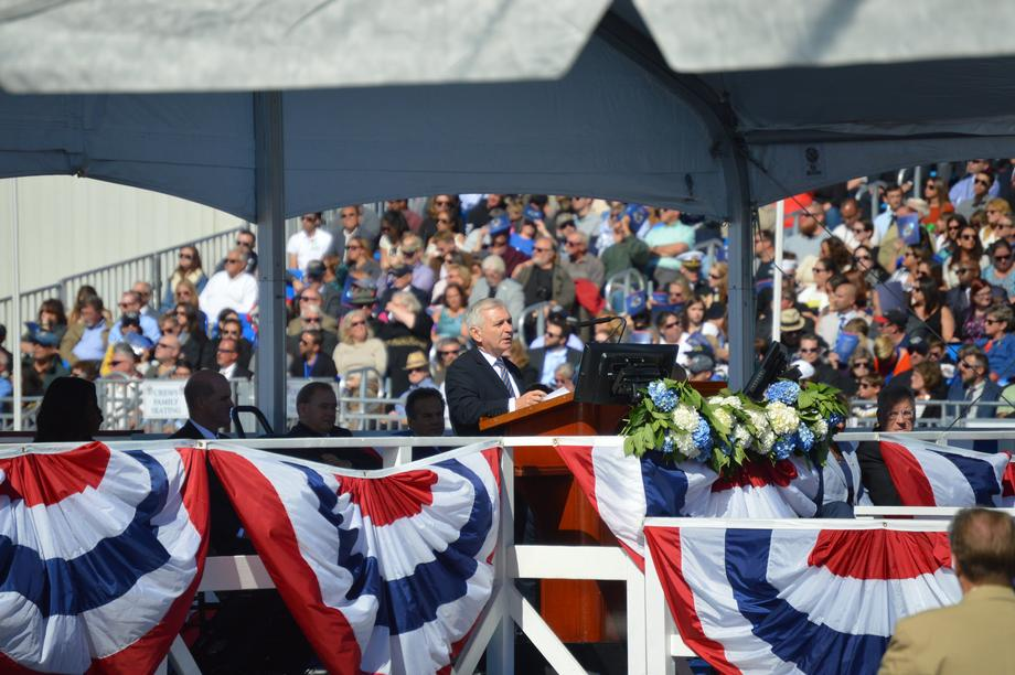 Reed Attends Christening of the USS Illinois Submarine with First Lady Michelle Obama