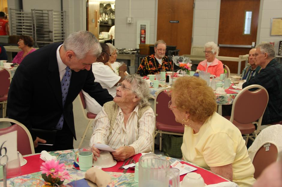 Reed Visits Cranston Senior Center