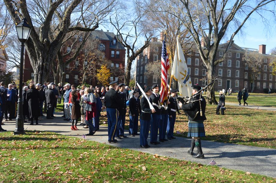 Reed, Brown University Honor Those Who Served at Veterans Day Ceremony