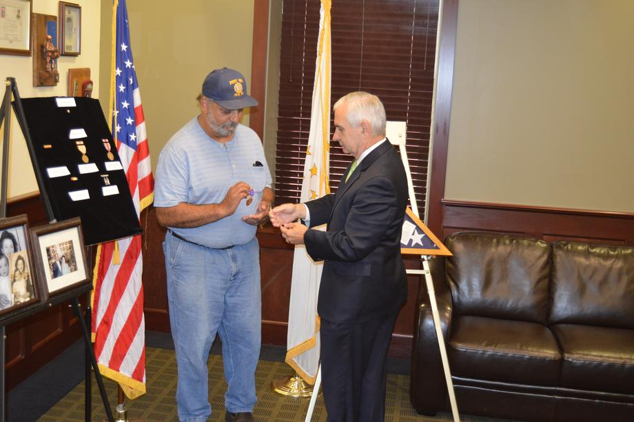 Reed Presents Posthumous WWII Medals to Son of Veteran
