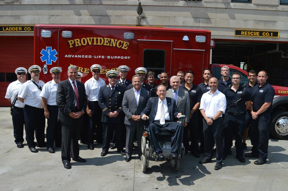 Reed Helps Unveil New Rescue Vehicle for Providence Fire Department