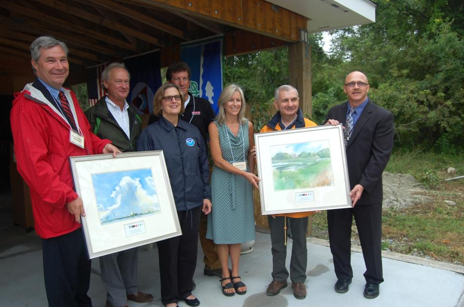 Reed Receives Distinguished Service Award on Prudence Island