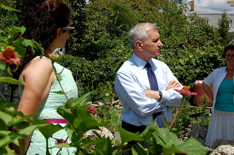 Reed Tours Community Garden and Tree Nursery in Providence