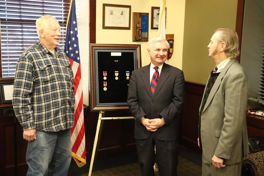 Reed Presents Posthumous Medals to Family of World War II Veteran