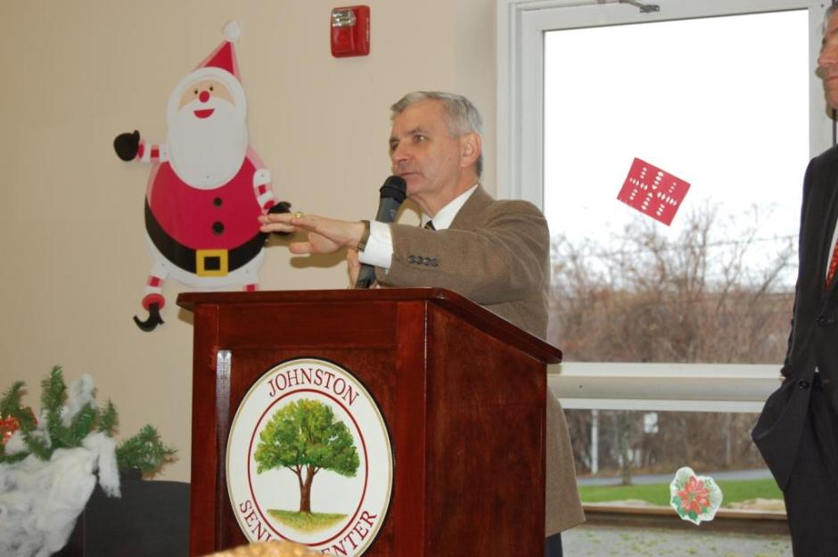 Reed Speaks at Johnston Senior Center
