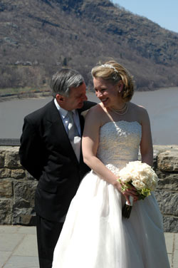 Jack Reed and Julia Hart at West Point on April 16, 2005, their wedding day. Photo courtesy of the Reed family