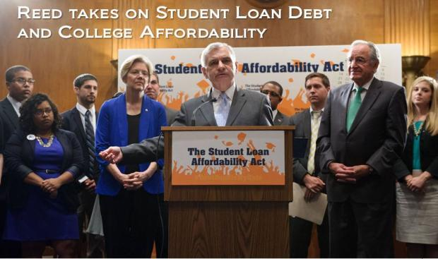 Reed Speaks on College Affordability and Student Loan Debt